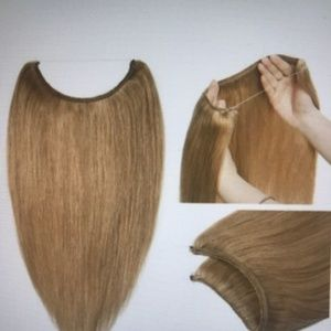 14'' No Clips Wire Halo Hair Extension One Piece